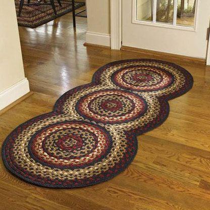 Folk Art Braided Rug Runner Crochet Carpet Braided Rugs