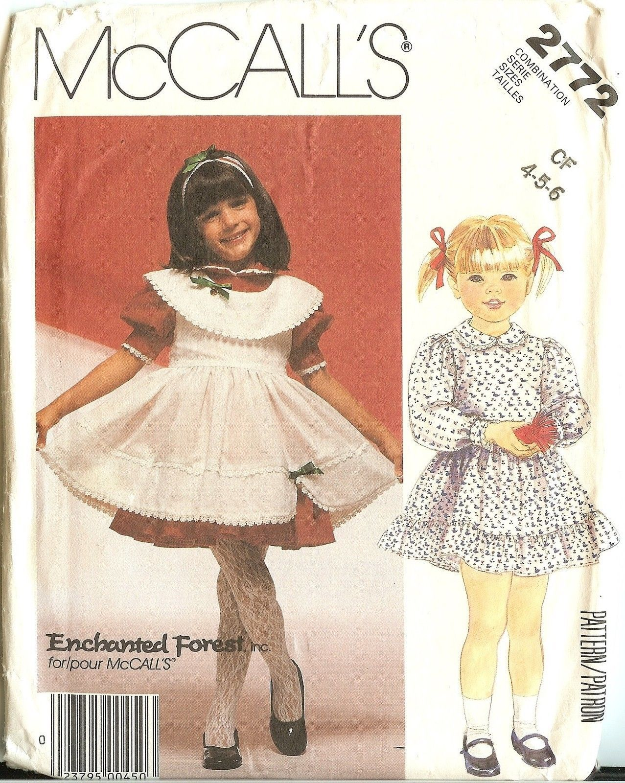 OOP McCalls Sewing Pattern Girls Childs Enchanted Forest Little ...