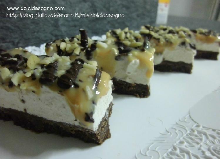 barrette cioccolato, crema di formaggio, dulce de leche e nocciole