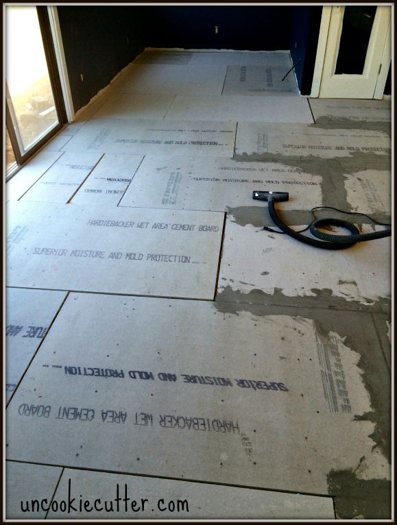 Cement Backerboard Floor Tile Installation How To Pinterest