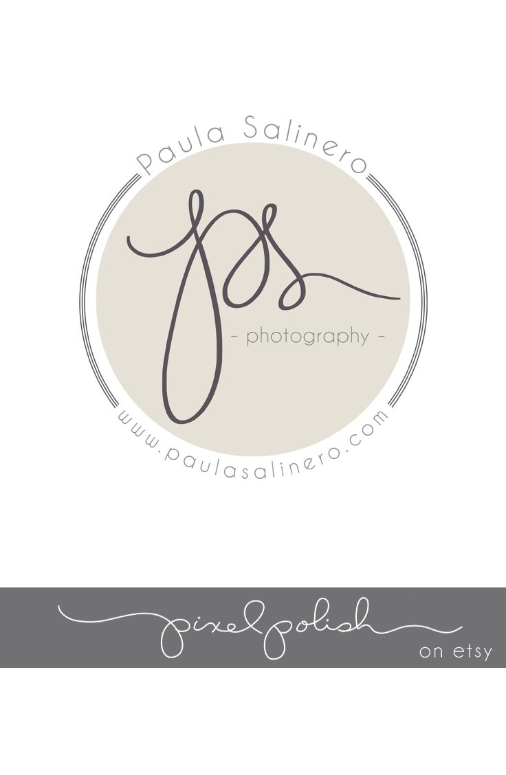 Handwritten Initials, Round logo for stickers. Part of our ...
