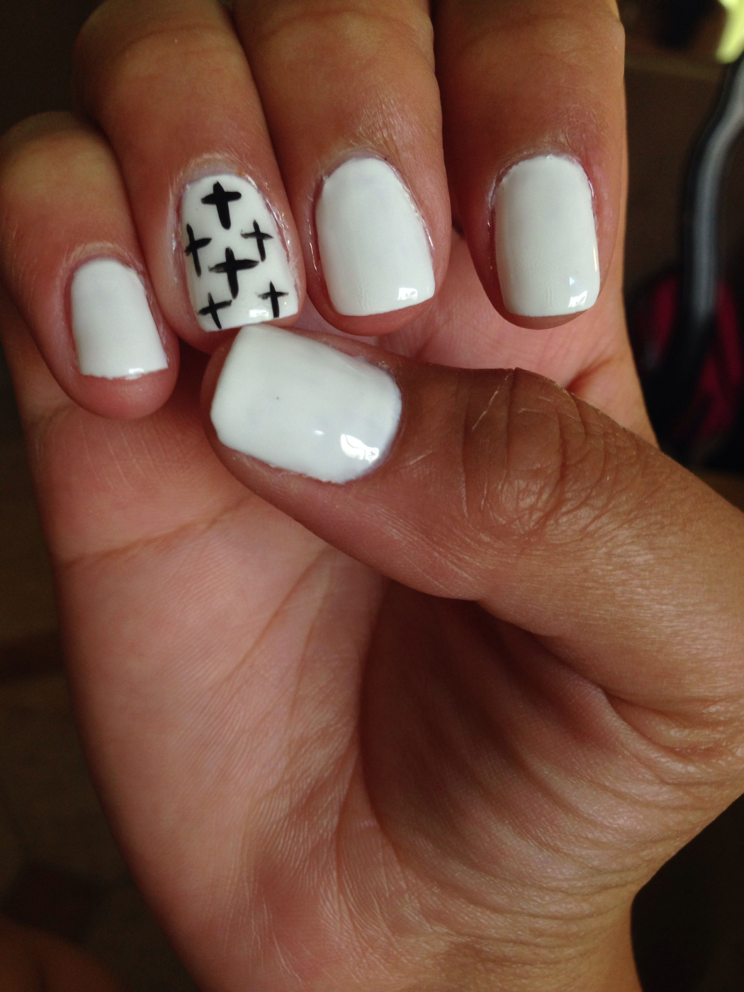 Obsessed with My Easter nails...Good Selection. #purewhite #crossAction