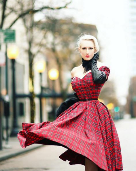 92b34bc0be1c We love the way Chicago Chic Blog has paired our Fatale Tartan Prom Dress  with…