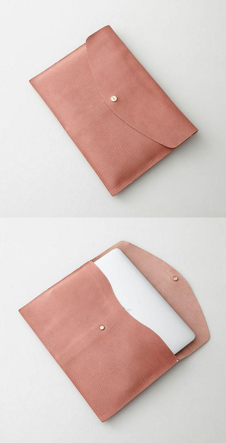 Leather Laptop Sleeve Leather Bag Handmade Clutch Diy