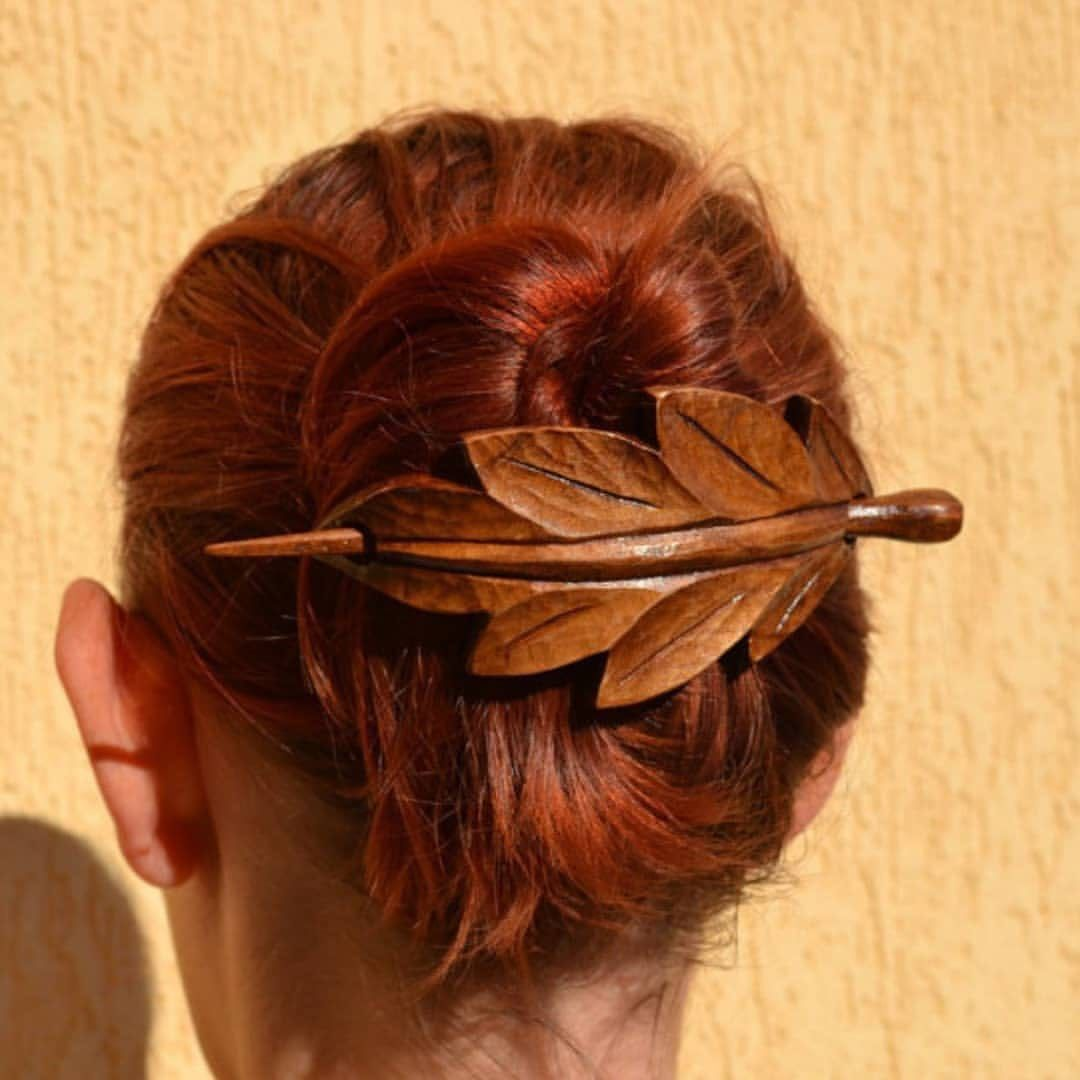 Carved 2 TURTLE wooden Hair Pin Barrette Clasp Clip Slide Sono wood handmade new