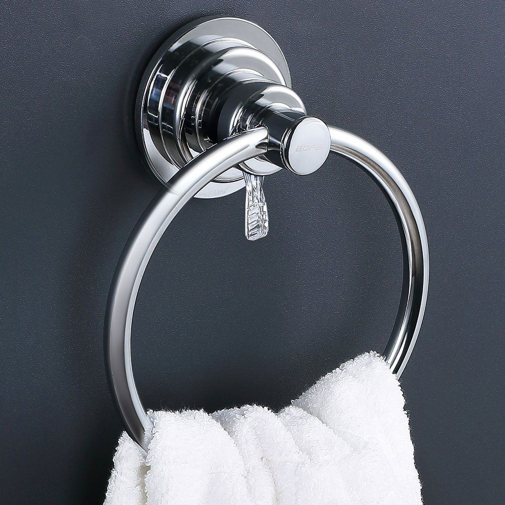 Bopai Drill Free Powerful Vacuum Suction Cup Towel Ring Shower Washcloth Hand Towel Round Holder Find Out More About Tile Bathroom Vacuum Suction Towel Rings