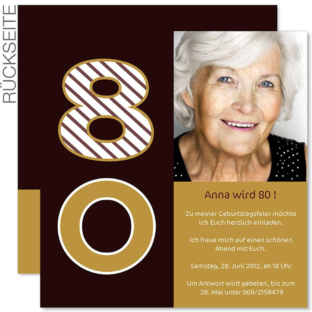 The Charming Einladung 80 Geburtstag Vorlage Photo Below Is