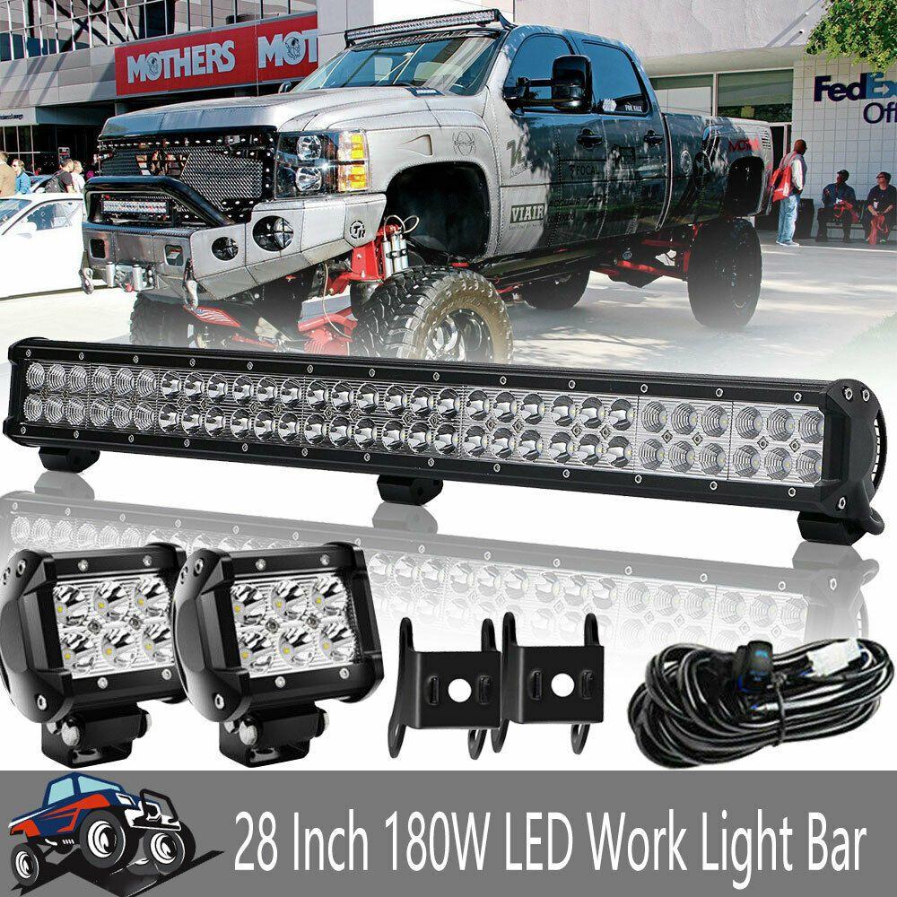 Ebay Advertisement Fits Polaris Dodge Ram 1500 2500 3500 Bumper Roof Upper Led Light Bar 28 4 Pods Dodge Ram 1500 Truck Lights Led Light Bars
