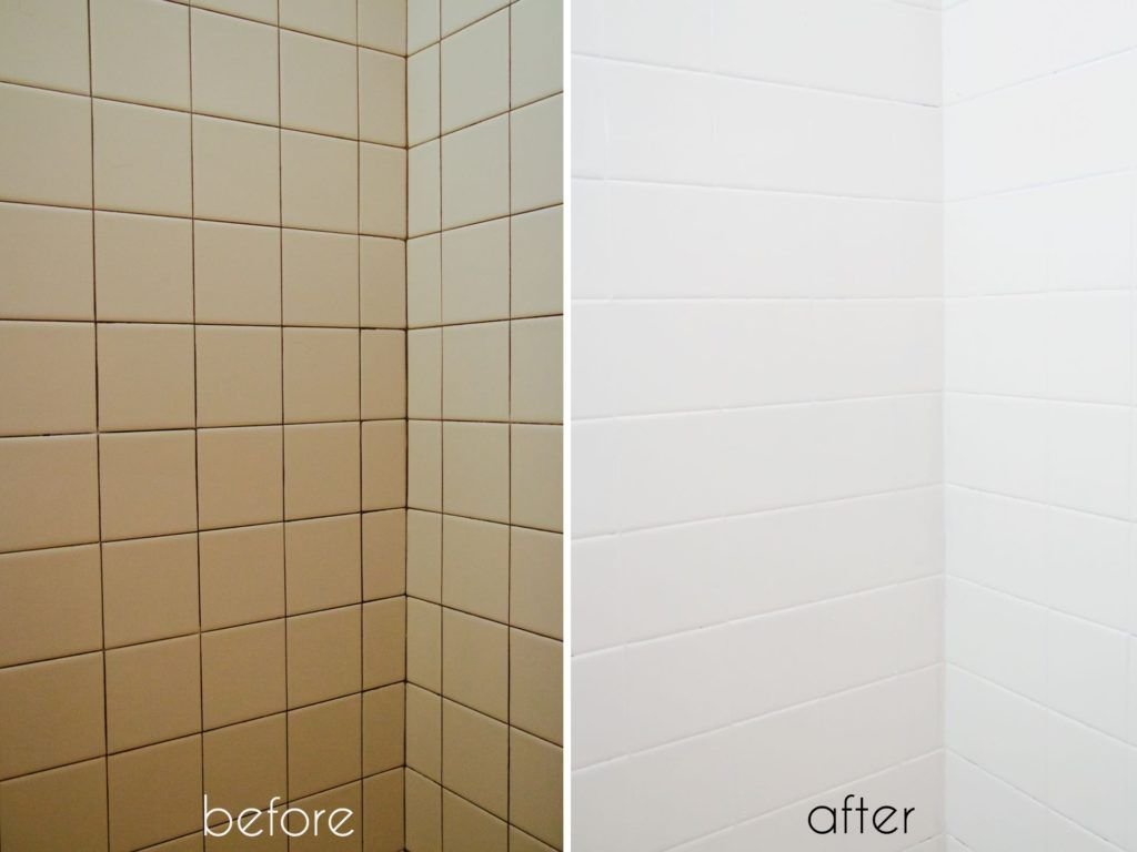 Painting Bathroom Tile Before And After | House in 2018 | Pinterest ...