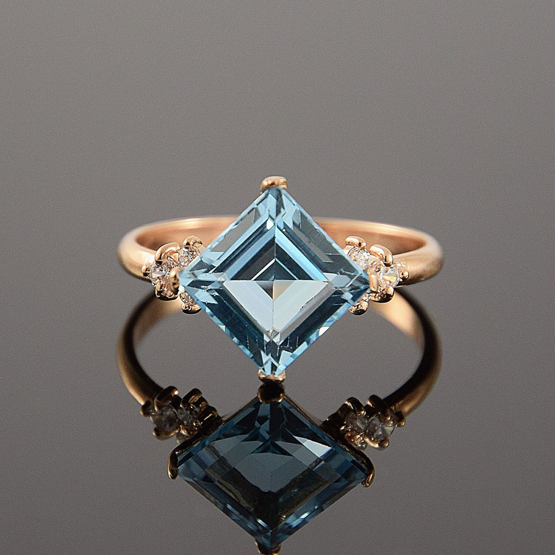 Topaz ring, Blue topaz ring, Art deco ring, Topaz ring gold, Gemstone ring, Birthstone ring, December birthstone by JewelryAsteria on Etsy https://www.etsy.com/listing/254647528/topaz-ring-blue-topaz-ring-art-deco-ring