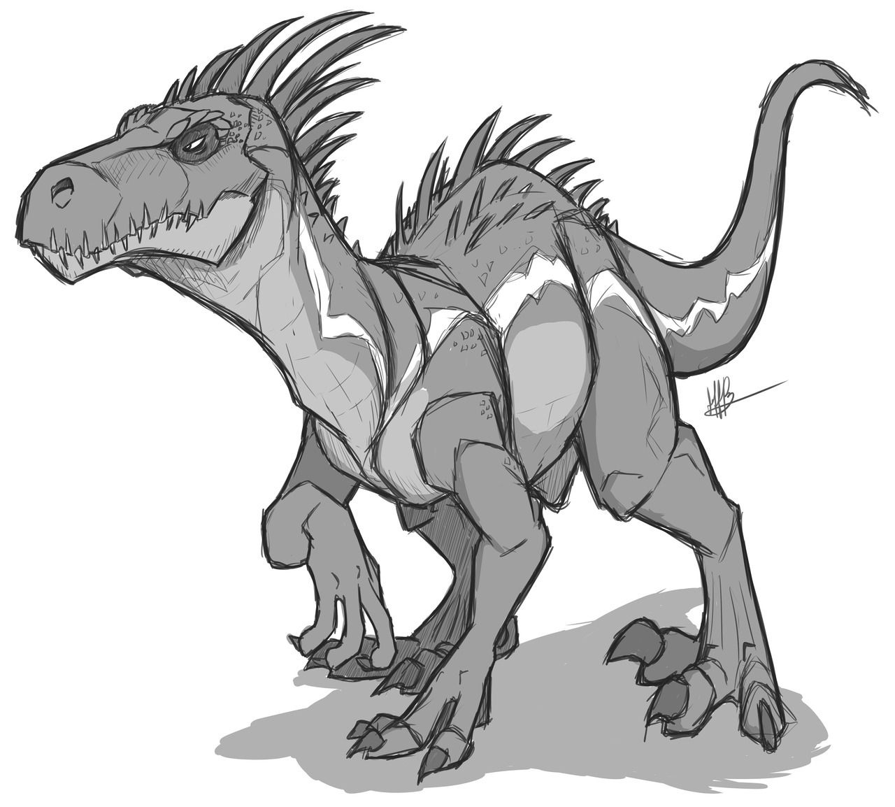 "artfella""A good little indoraptor."" Animal drawings"