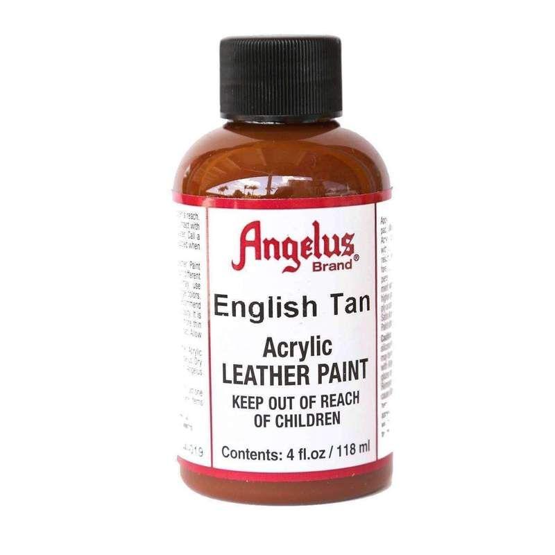 Angelus Acrylic Leather Vinyl Canvas Paint Dye 4 Oz Paint Dye Angelus English Tan Vinyl Painted Leather Vinyl Vinyl