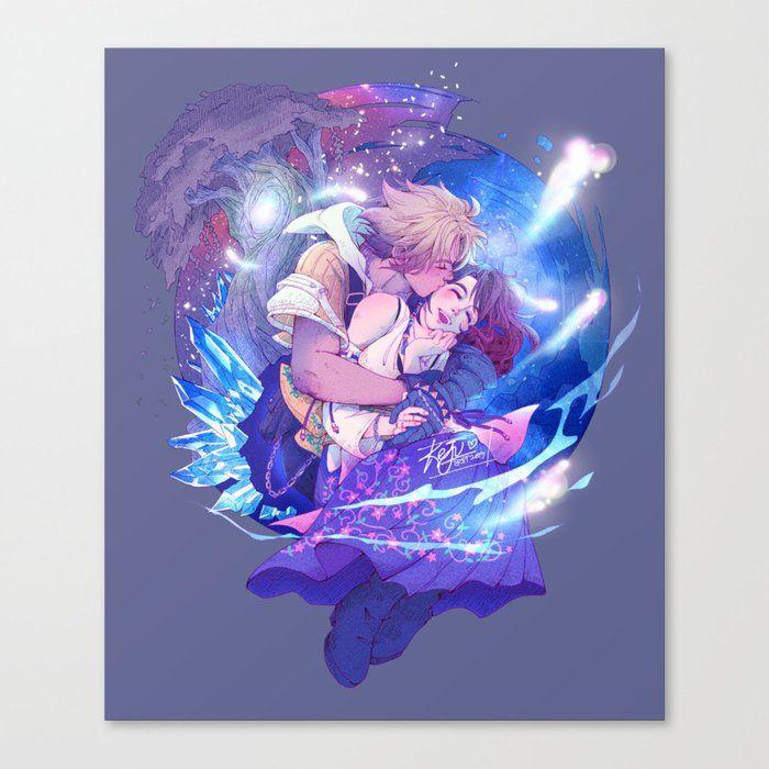 Tidus & Yuna Canvas Print by Keju - MEDIUM