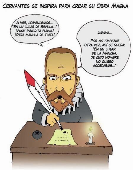 Caricatura Librarian Humor Don Quixote Comics