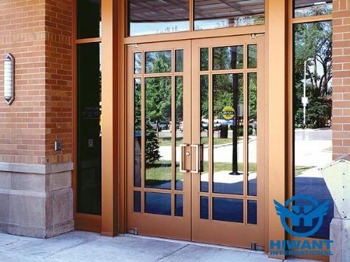 Beautiful Appearance And Elegant Color For Glass Double Door With Aluminium Profile Frame Aluminium Doors Aluminium Windows And Doors Model House Plan