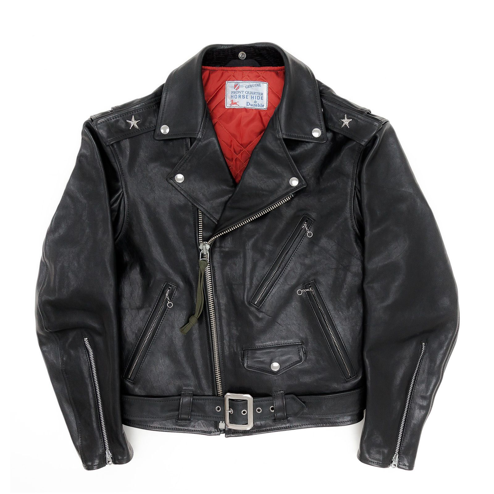 Mens Motorcycle Perfecto Brando 100/% Leather Zip Up Jacket Black Biker