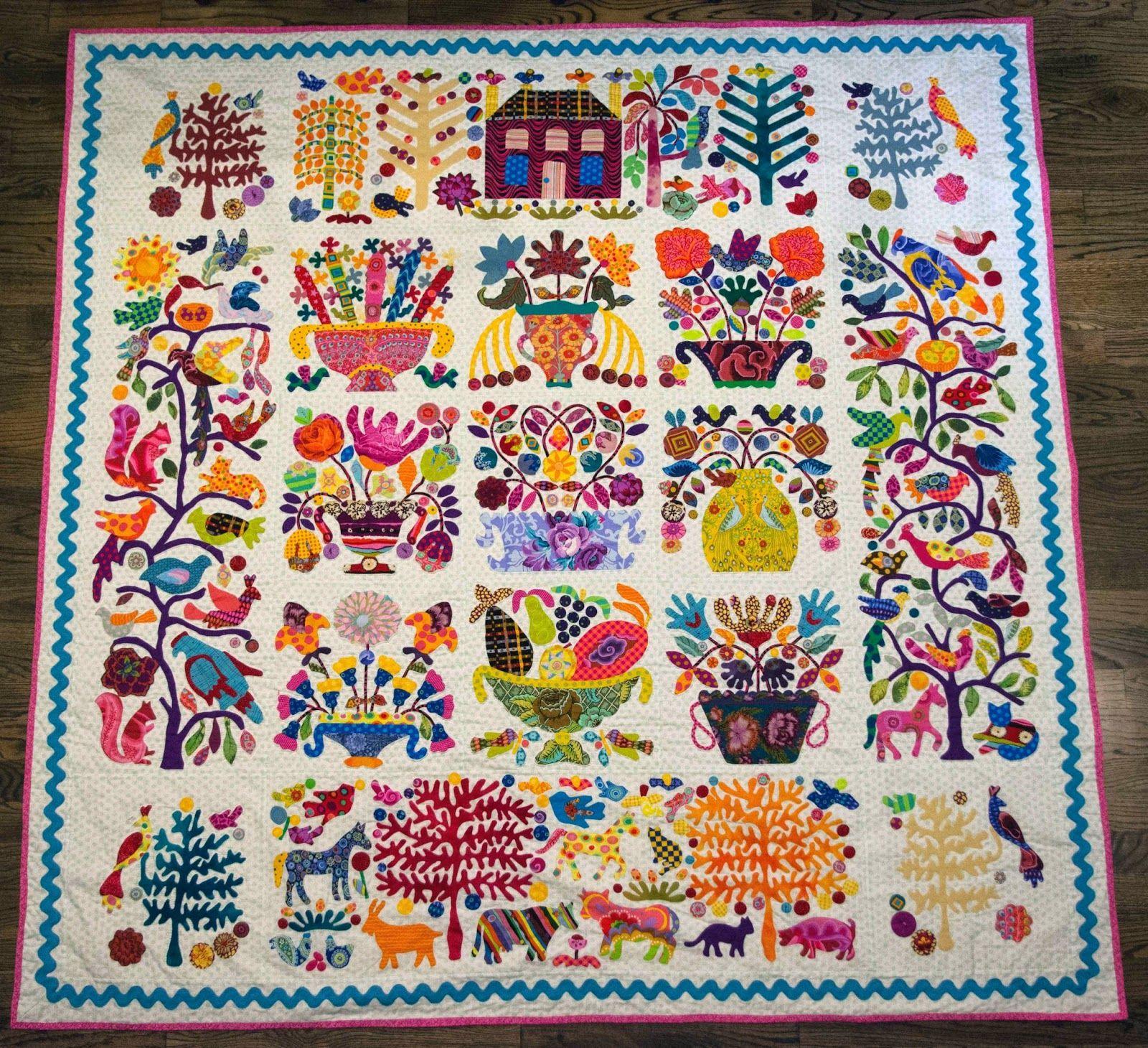 Quilt by Teresa Duryea Wong at Third Floor Quilts. Winner ... : applique on quilt - Adamdwight.com