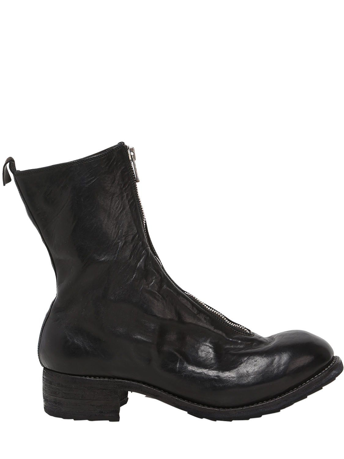 GUIDI PL2 ZIP-UP LEATHER BOOTS UOj1hDl0A