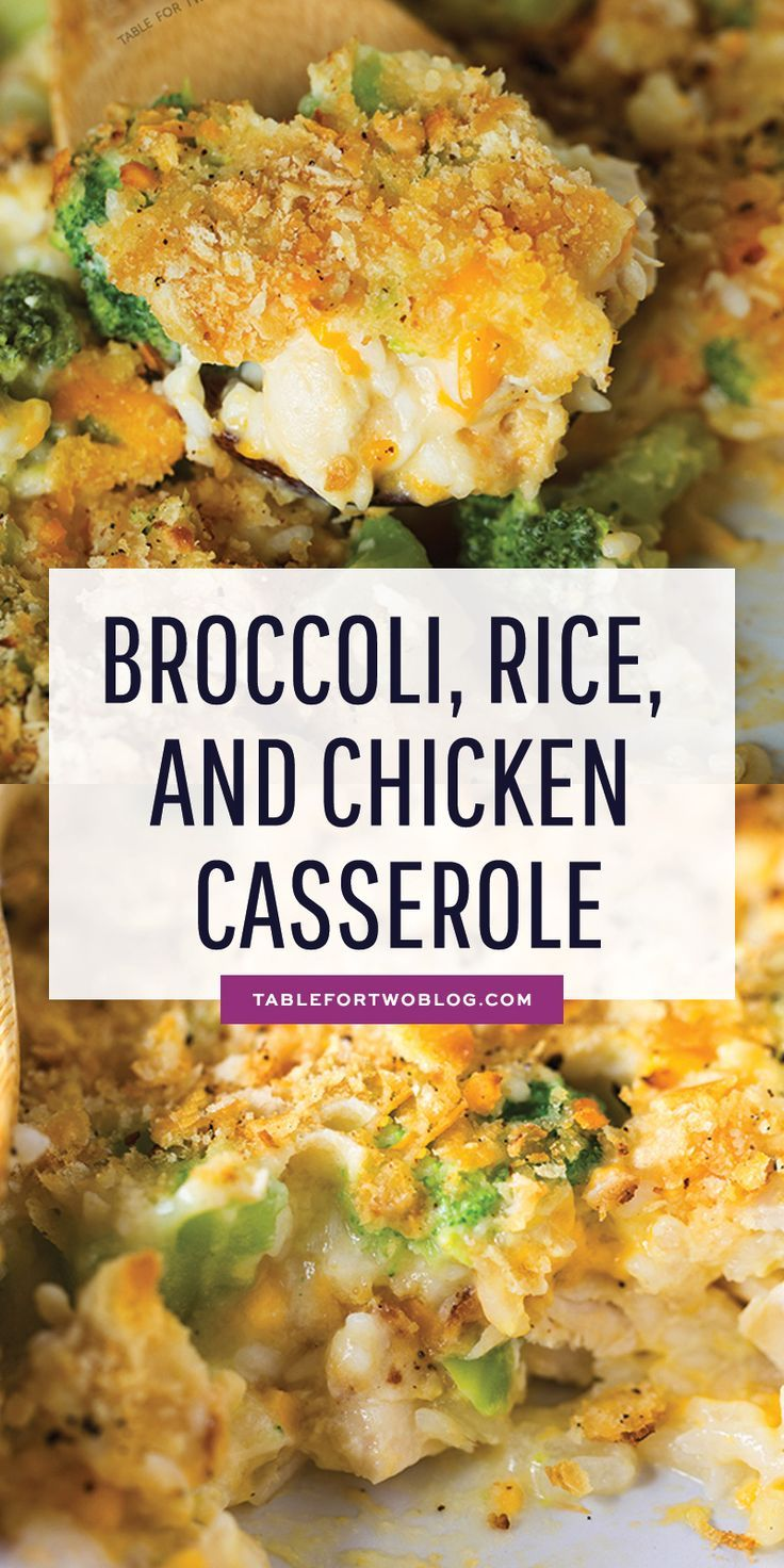 Broccoli, Rice, and Chicken Casserole - Make-Ahead Baked Casserole