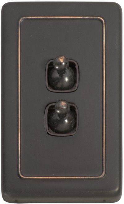 Brown Light Switches: 2 Gang Toggle Light Switch - Brown Toggle Base | Industrial Kitchen  renovation | Pinterest | Antique copper, Brown and Ps,Lighting