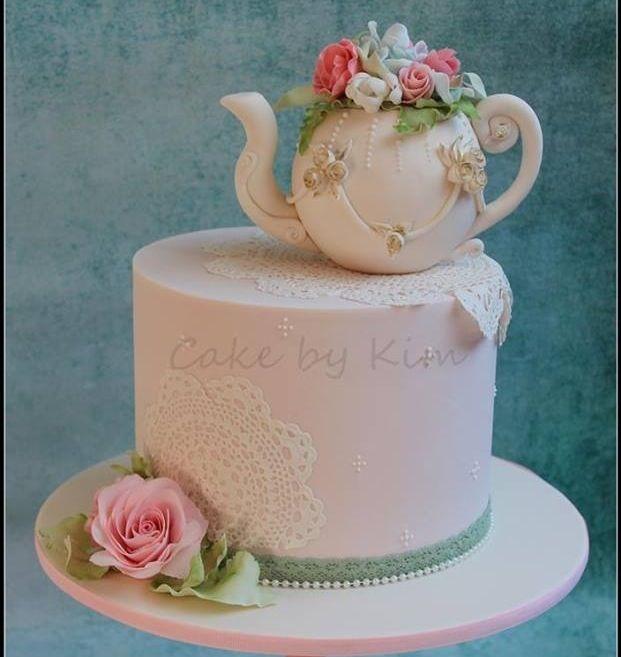 Kitchen Design Cake: Tea Pot Cake For Kitchen Tea