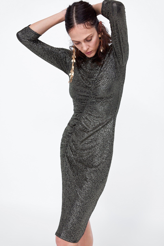 a1958763 Image 2 of DRAPED DRESS from Zara   ON NOW   Dresses, Draped dress ...