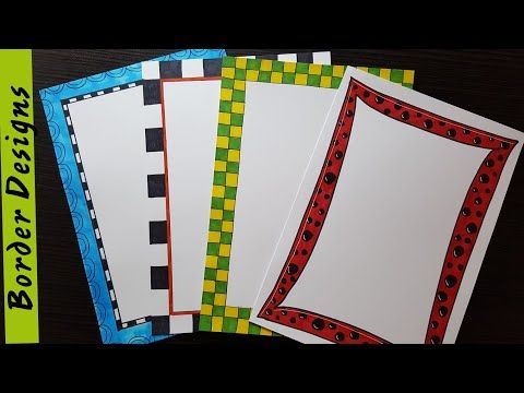 Easy border designs on paper project work borders for projects also best activities images pinterest in rh