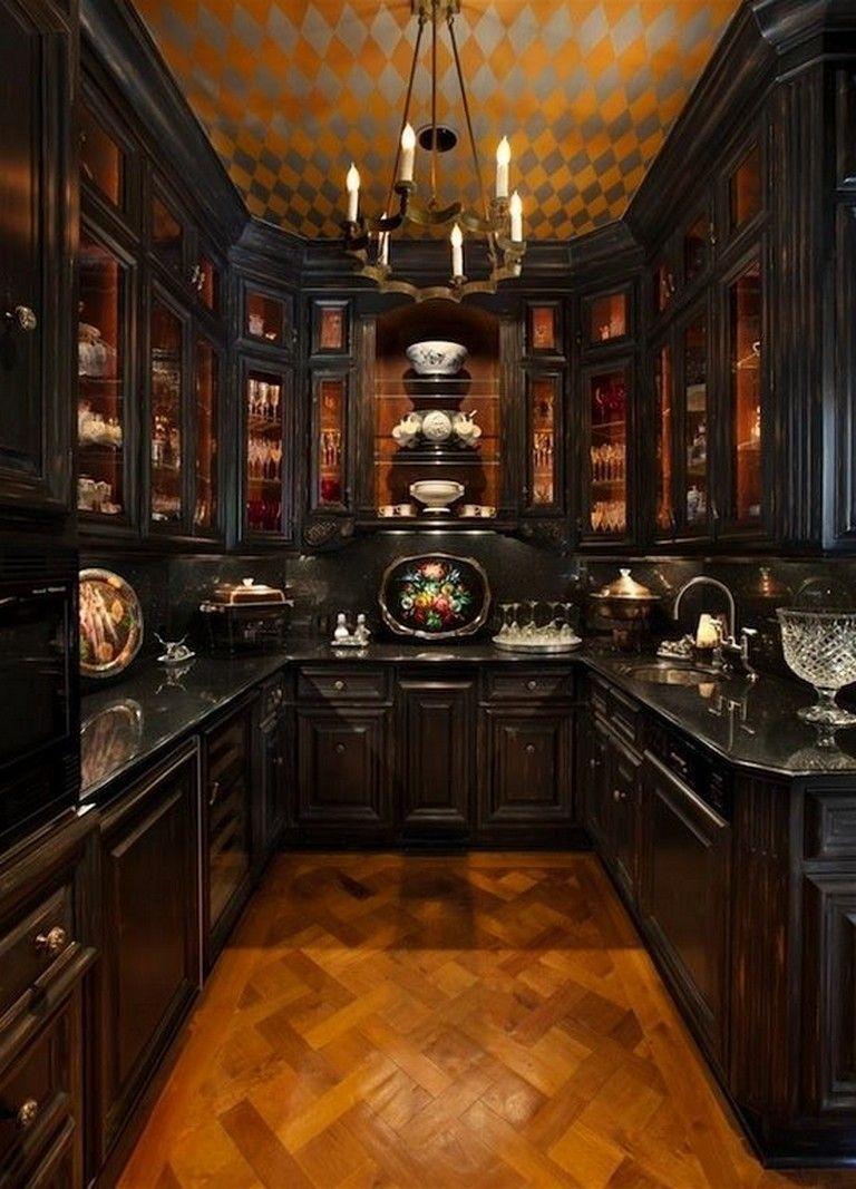 9+ Amazing Gothic Black Kitchen Interior Design Ideas kitchens ...