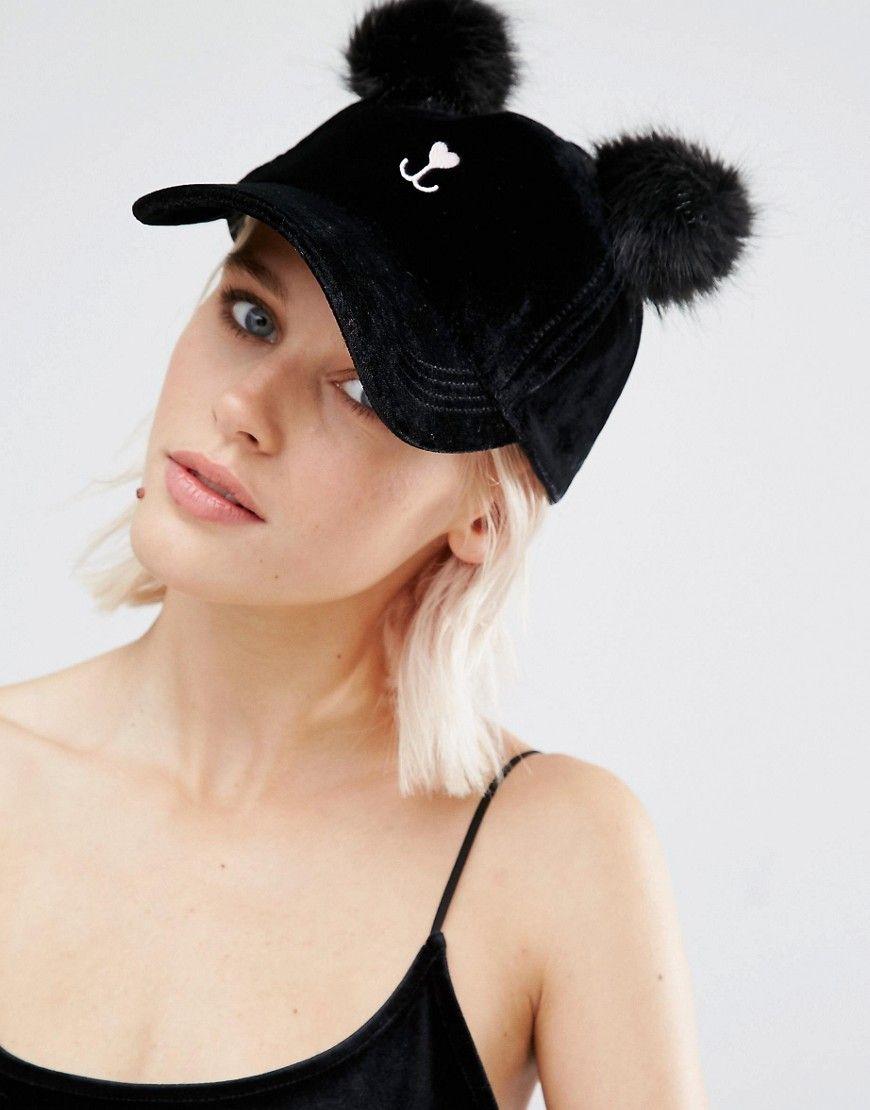 de927acb4 River Island Double Pom Pom Kitty Cap | Fashion&Style | Fashion, Cat ...