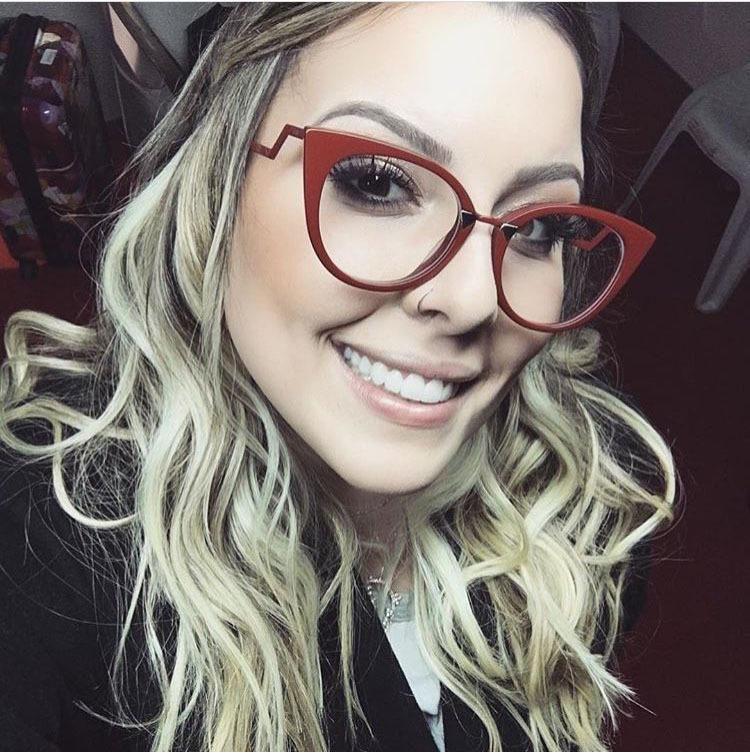 9ec28541fc SOLO TU Fashion Personality Elegant Cat Eye Eyewear Frame High Quality Women  Optical Eyeglasses Computer Glasses