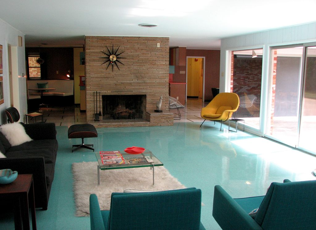 1959 living room wilson house texas mid century modern - Mid Century Home Design