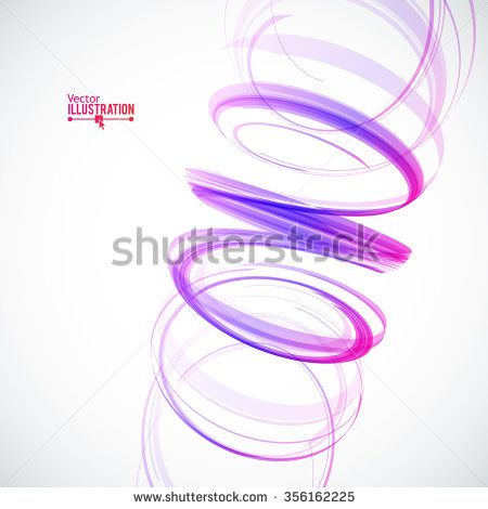 Abstract Spiral on White Background. Design Element for Graphic Design / Party Flyers / Business Presentation / Posters. Vector Illustration.