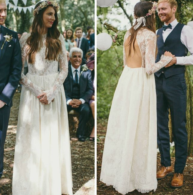 This Open Backed Dress Is Stunning Hippie Wedding DressesSleeve