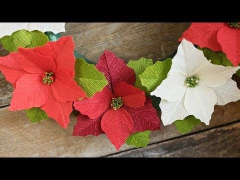 Crepe Paper Poinsettias Template And Video Tutorial Flowers