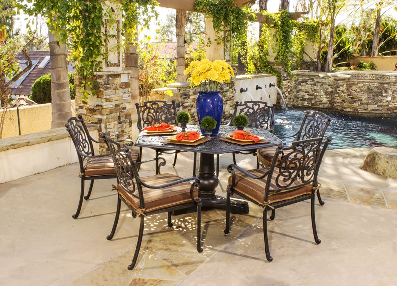 Hanamint Cast Aluminum Patio Furniture U2013 St. Augustine Dining Collection Part 6