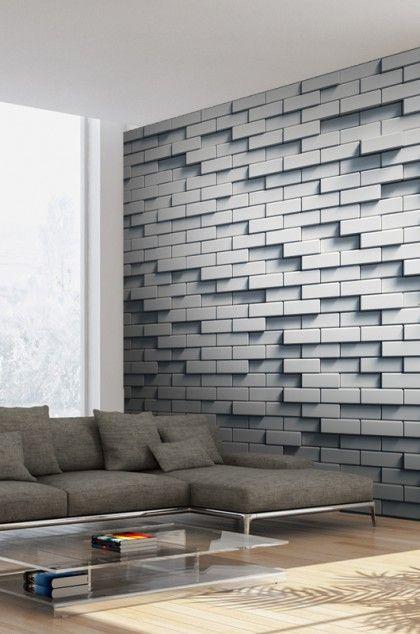 Papier Peint Mur De Briques Effet 3d Papier Peint Salon Déco E
