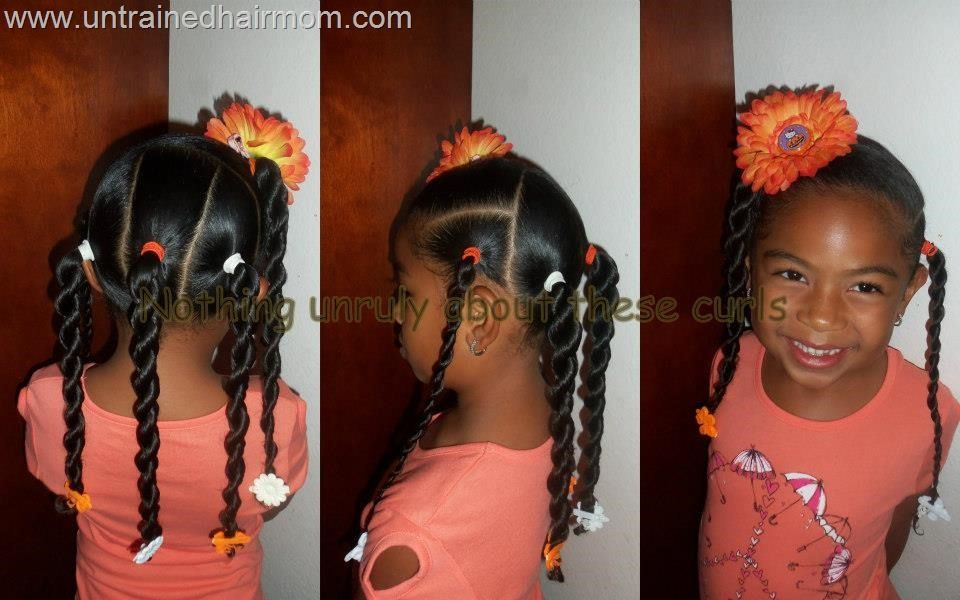 Quick easy ponytails|girls hairstyles | Little Girls Hair ...