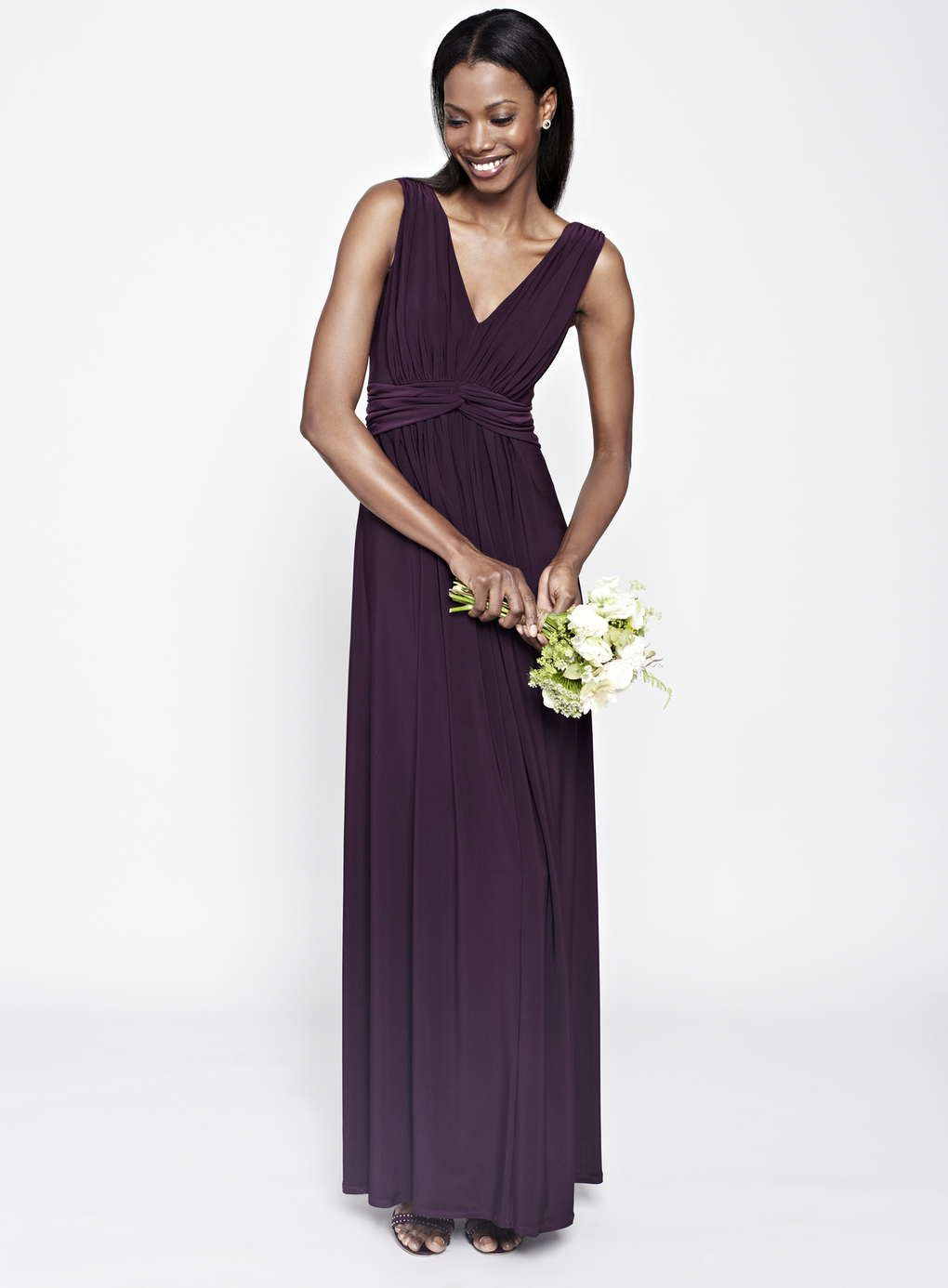 Merlot Annabel Long Bridesmaid Dress http://www.weddingheart.co.uk ...