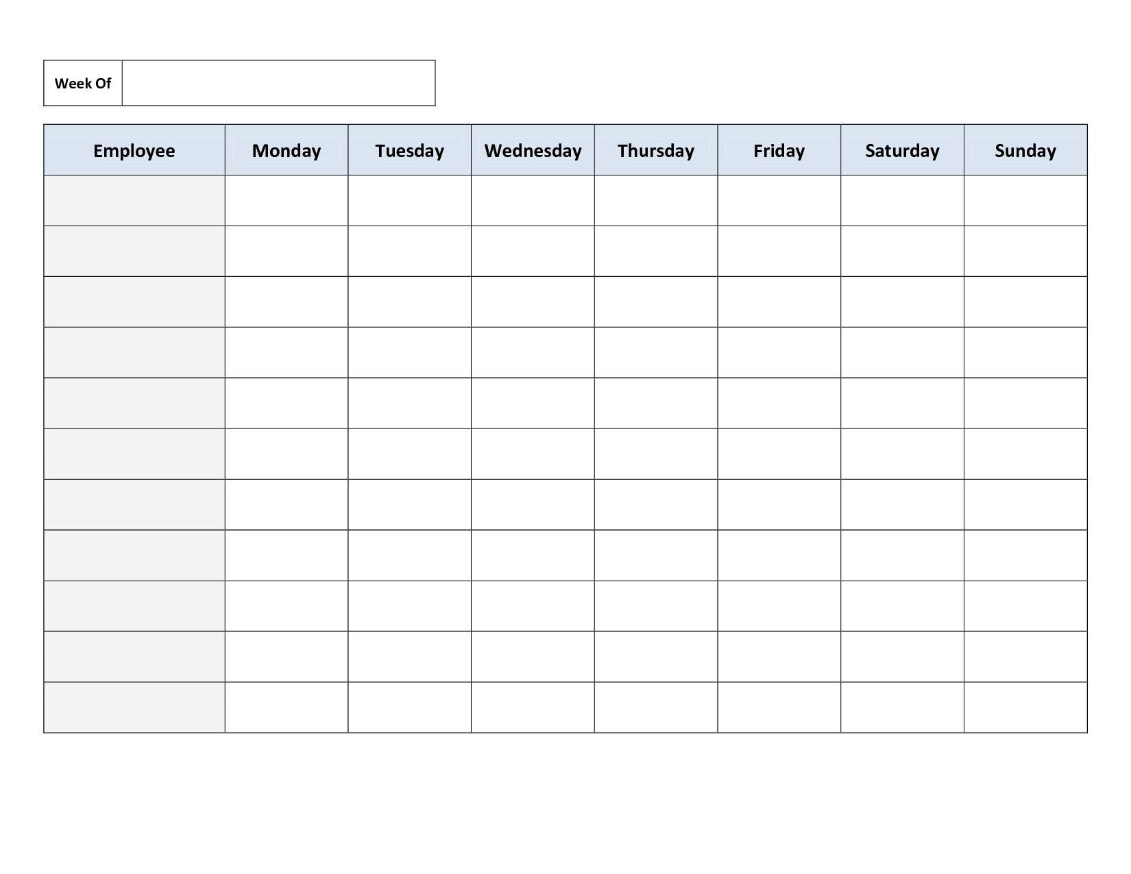 employee schedule template - Bing Images | Paulie and Her CAREGIVERS ...