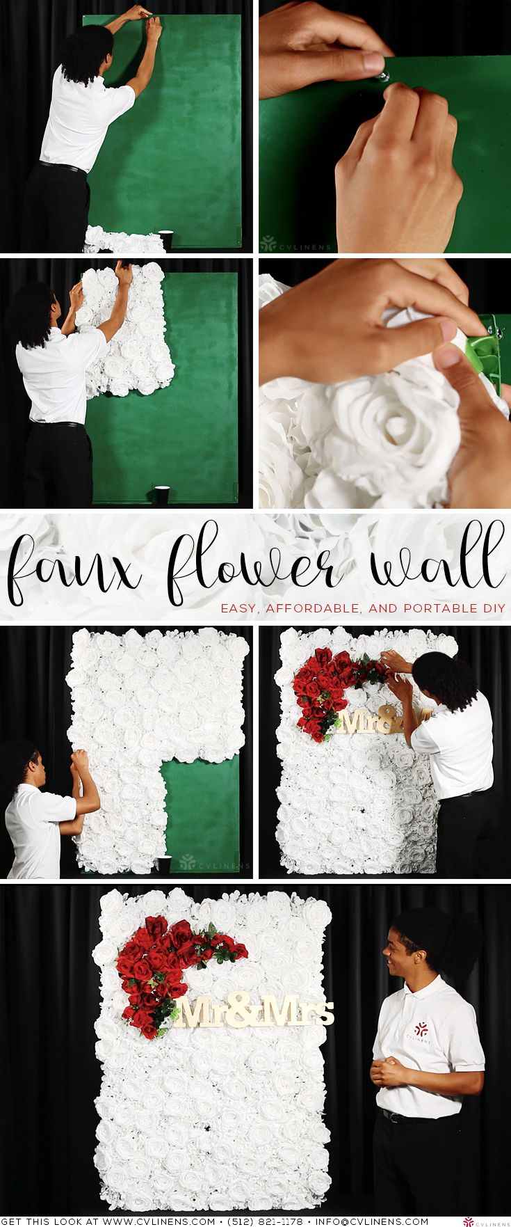 Wedding decoration ideas backdrops  How to Set Up a Portable Flower Wall Backdrop  DIY Wedding