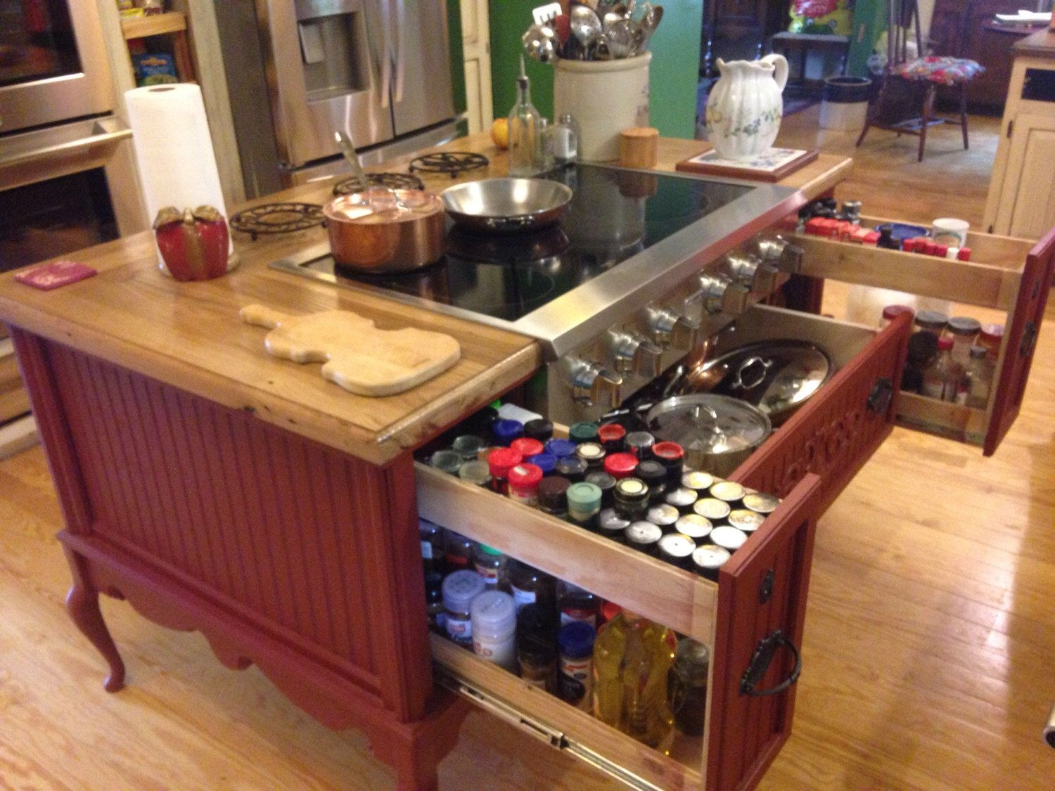 Furniture Style Kitchen Island With Cooktop Ready Option By - Etsy kitchen island