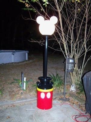 Mickey Lamp Post By Lee Ann Swift