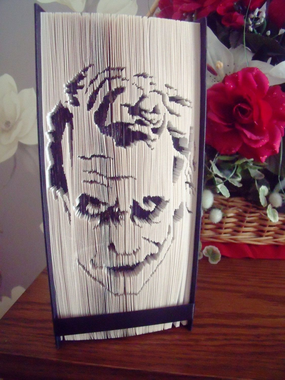8728002f62d Batman inspired the joker folded book art birthday gift creationsbymex on  etsy jpg 1125x1500 Joker themed