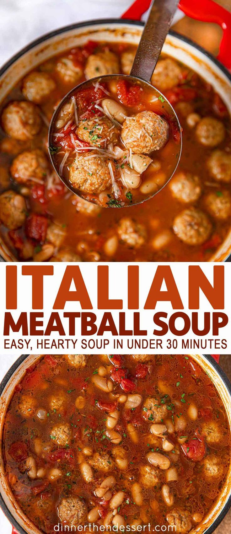 Photo of Italian Meatball Soup Recipe (w/ frozen meatballs) – Dinner, then Dessert