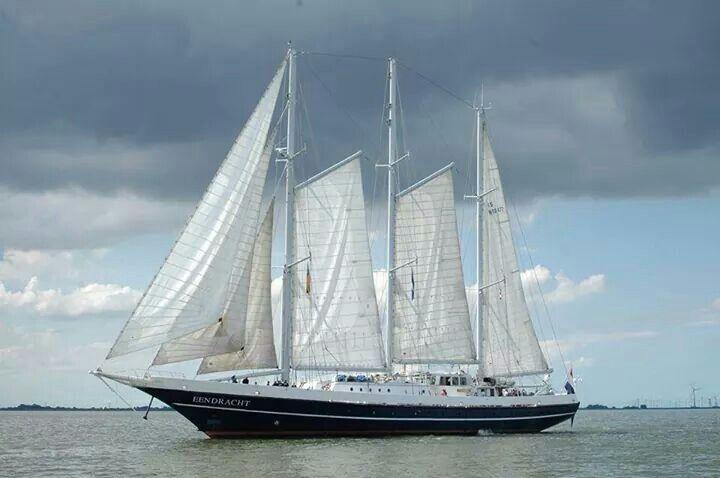 De Eendracht, het schip waar mijn man Joep, vrijwilliger is.
