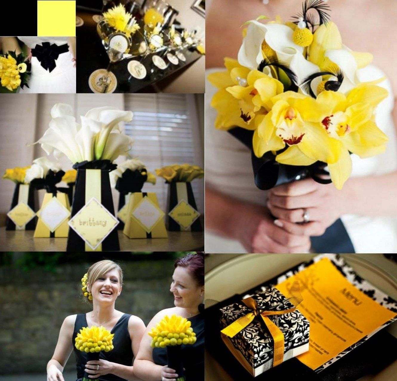 32 yellow black and white wedding decorations pinterest wedding 32 yellow black and white wedding decorations junglespirit Image collections
