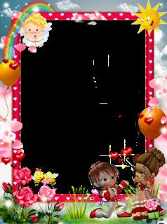 Frame Png Amizade Infantil Imagens Para Photoshop Papel Decorativo Imagens Infantis Bordas Coloridas