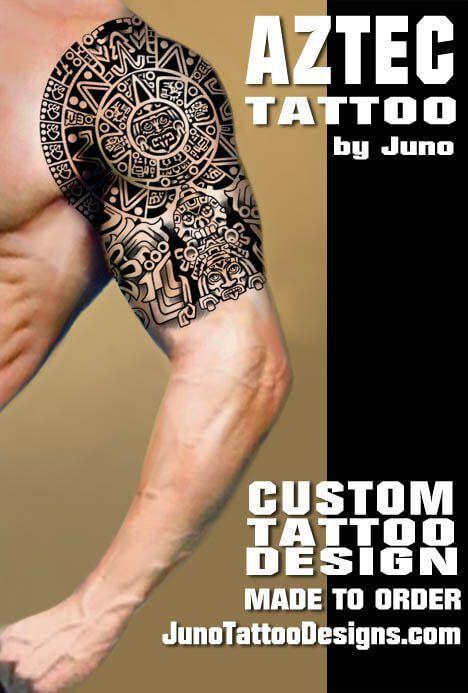 Aztec Tribal Tattoo Shoulder Man Tattoo Juno Tattoo Designs Aztec Tattoo Aztec Tribal Tattoos Tribal Tattoos