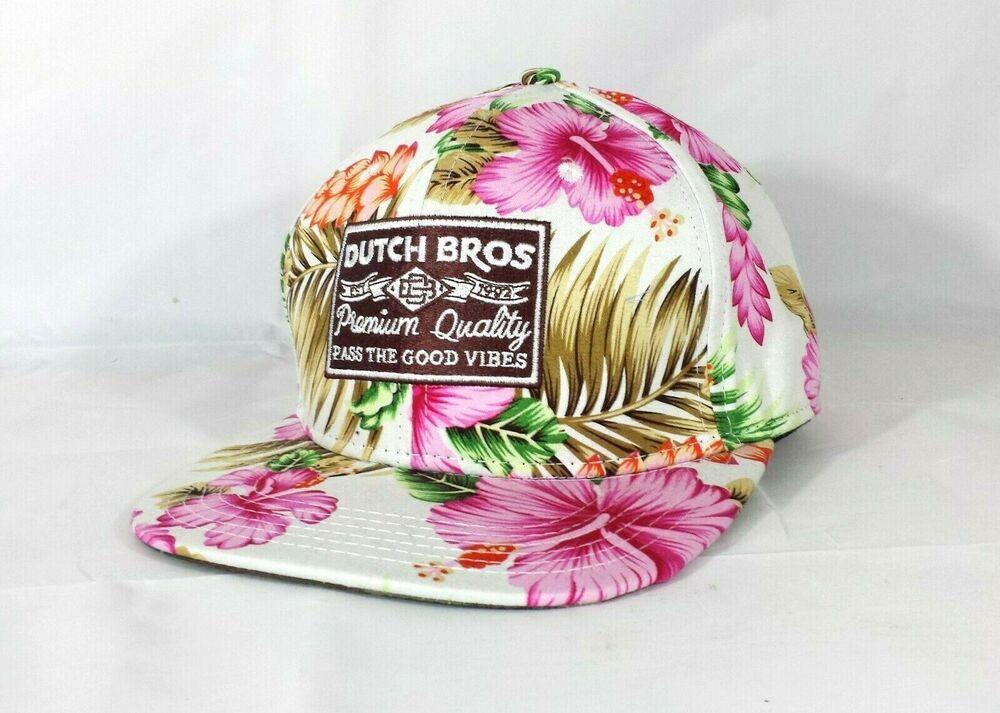 Dutch Bros Coffee Rare Snapback Baseball Cap Tropical NEW Good Vibes Boardwalk #Flexfit #BaseballCap #dutchbros