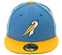 The Clink Room Myrtle Beach Pelicans Ed Hat Light Blue Gold